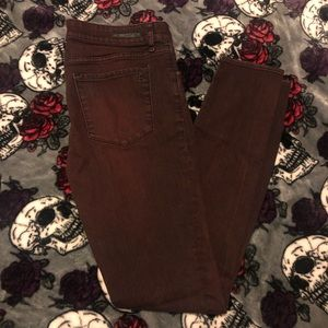 Articles of Society burgundy distressed jeans